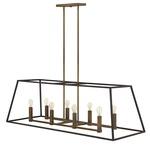 Fulton Double Linear Chandelier - Bronze /