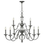 Eleanor Chandelier - Polished Antique Nickel /