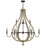 Middlefield 2 Tier Chandelier - Iron Rust /