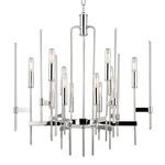 Bari Chandelier - Polished Nickel /