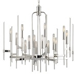 Bari Chandelier - Polished Nickel