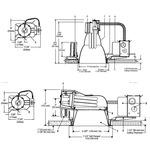 Calculite 6132BU 6 In CFL Horizontal/Vertical Frame-In Kit  - Aluminum /