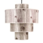 Deco Deluxe Pendant - Brushed Nickel / Faux Bois Light