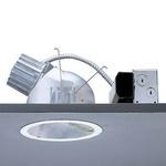 Calculite 8047 7 Inch CFL Lensed Wall Wash Trim -  / Comfort Clear Diffuse / White Trim