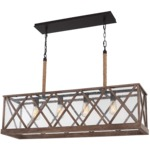 Lumiere Island Pendant - Dark Weathered Oak / Oil Rubbed Bronze / Clear Seeded