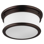 Payne Ceiling Light Fixture - Dark Bronze / White Opal