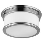 Payne Ceiling Light Fixture - Polished Nickel / White Opal
