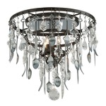 Bistro Flush Mount - Graphite / Crystal