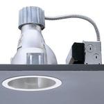 Calculite 8021W 6 Inch CFL Single Wall Wash Trim -  / Comfort Clear Diffuse / Polished Trim