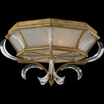 Beveled Arcs Flush Mount - Gold Leaf / Crystal