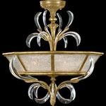 Beveled Arcs Semi Flush Mount - Gold Leaf / Crystal