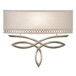 Allegretto 785 Wall Light - Silver Leaf / White Linen