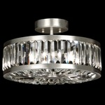 Crystal Enchantment Round Semi Flush Mount