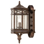 Holland Park Large Outdoor Wall Sconce - Antique Bronze / Seedy Glass