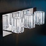 Charlotte Bathroom Vanity Light - Chrome / Clear