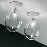 Pro-Secco Ceiling Light - Chrome / Clear