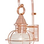 Vidalia Onion Outdoor Wall Light - Copper / Clear