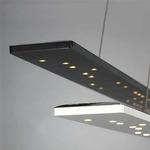 Parallax LED Linear Suspension - Satin Nickel / White