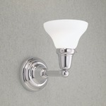 Coventry Three Light Bath Bar - Chrome / Shiny Opal