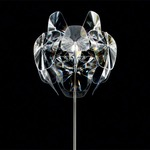 Hope Floor Lamp - Polished Stainless Steel / Transparent