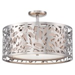 Layover Semi Flush Mount - Chrome / Frosted