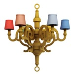 Patchwork Paper Chandelier - Light Wood / Multicolor
