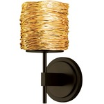 Coil Wall Sconce - Bronze / Gold