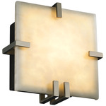 Clouds Clips Square ADA Wall Sconce - Brushed Nickel / Clouds Resin