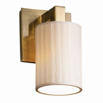 Limoges Wall Sconce - Antique Brass / Waterfall Porcelain