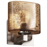 Modular ADA Oval Fusion Wall Sconce - Brushed Nickel / Mercury