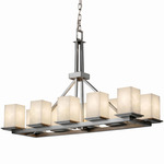 Montana Square Flat Rim Linear Suspension - Brushed Nickel / Clouds Resin