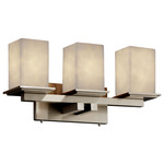Montana Four Light Square Bath Bar - Brushed Nickel / Clouds Resin