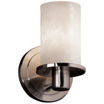 Rondo Flat Rim Wall Sconce - Brushed Nickel / Clouds Resin