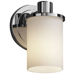 Rondo Flat Rim Wall Sconce - Polished Chrome / Opal