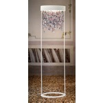 Ola Floor Lamp - Matte White / Cold Colored Crystals /
