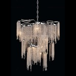 Victoria Conical Chandelier - Nickel /