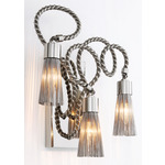 Sultans of Swing 3-Light Wall Sconce - Nickel /