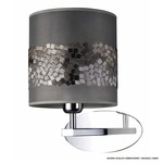 Apliques 490 Wall Lamp - Chrome / Black Cotton