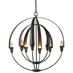 Double Cirque Chandelier - Dark Smoke /