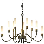 Lisse 10 Arm Chandelier - Dark Smoke / Frosted