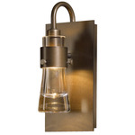 Erlenmeyer Wall Sconce - Bronze / Clear