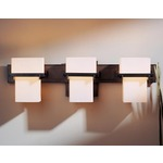 Kakomi 3 Light Bathroom Vanity Light - Dark Smoke / Pearl
