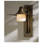 Hood 565 Outdoor Wall Sconce - Bronze / Opal