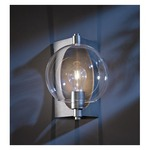 Pluto Outdoor Wall Sconce - Dark Smoke / Clear