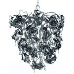 Love You Love You Not Conical Chandelier - Nickel / Crystal