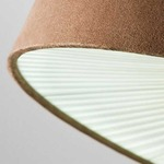 Velvet Ceiling Light Fixutre -  / Brown Shade/ Warm White Diffuser