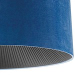 Velvet Ceiling Light Fixutre -  / Blue Shade/ Black Diffuser