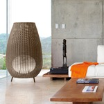 Amphora Outdoor Floor Lamp - Brown Graphite / Brown /
