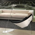 Spock Floor Lamp - Chrome/ White /