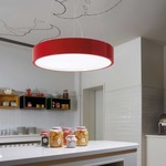 Elea Dimmable Pendant - Red / Clear